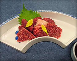 Assorted horse sashimi