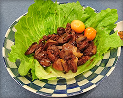 Slow cooked chicken liver